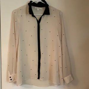 Sheer embellished blouse size s